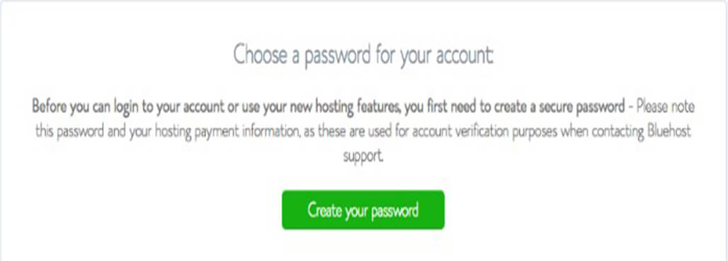 Create password for your blog