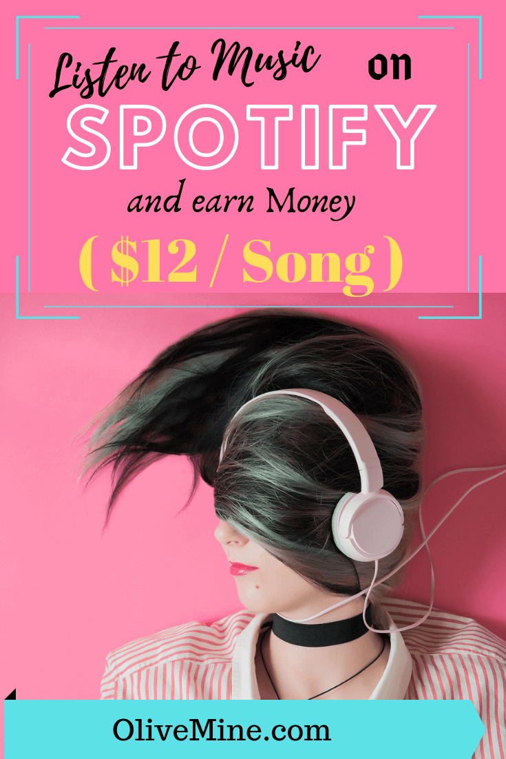 Listen to Music on Spotify and earn Money