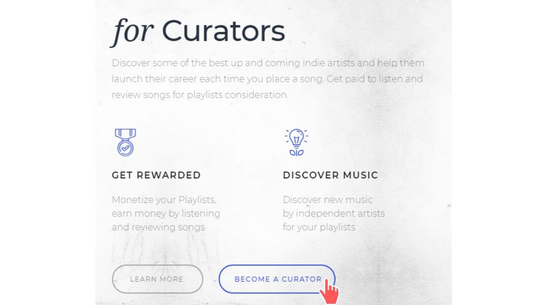 PlayList Push Curator Section