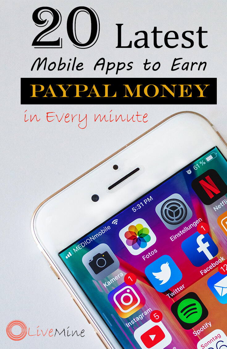 Latest Mobile Apps to Earn Free Paypal Money