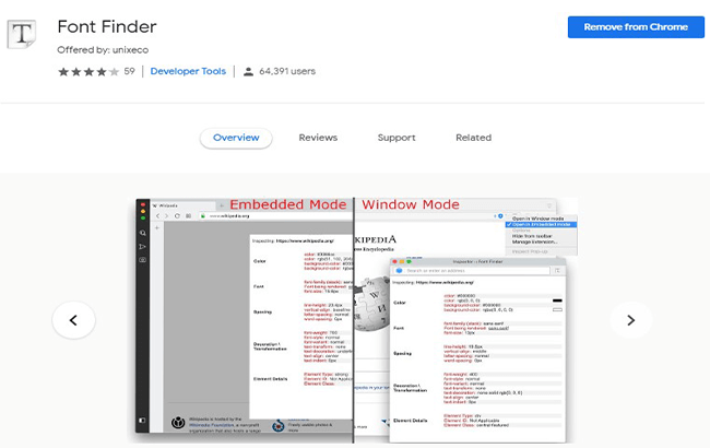 Font Finder free chrome extension tool