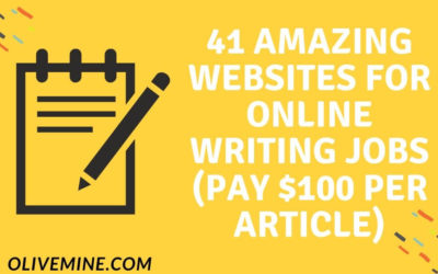 41 Amazing Websites For Online Writing Jobs that pay $100 per Article